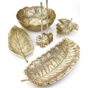 NWOT Martha Stewart Gold Leaf Platter